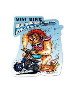 Mini Bike, Motorcycle, Custom Metal Shape, 15 X 16 Inches