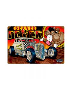 Rat Rod Beaver Fever, Automotive, Vintage Metal Sign, 12 X 18 Inches