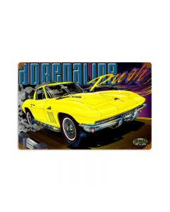 Adrenaline, Automotive, Vintage Metal Sign, 18 X 12 Inches