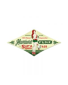 Humboldt Funk, Pinup Girls, Diamond Metal Sign, 12 X 24 Inches