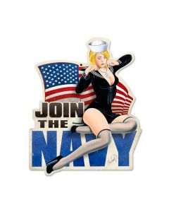 Join The Navy, Allied Military, Custom Metal Shape, 16 X 18 Inches