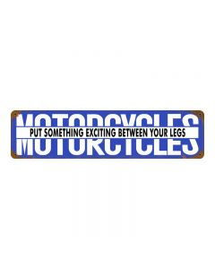 Motorcycles Something Exciting, Motorcycle, Metal Sign, 20 X 5 Inches