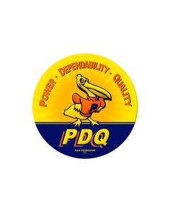 PDQ Duck, Automotive, Round Metal Sign, 14 X 14 Inches