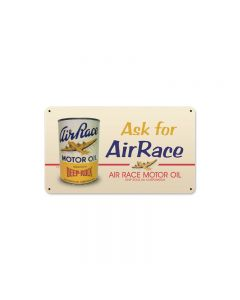 Air Race Oil, Automotive, Metal Sign, 14 X 8 Inches