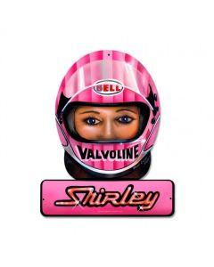 Muldowney Valvoline, Automotive, Helmet Metal Sign, 12 X 15 Inches