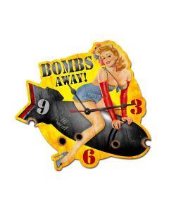 Bombs Away, Pinup Girls, Custom Metal Shape, 15 X 16 Inches