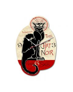 Chat Noir, Humor, Custom Metal Shape, 11 X 16 Inches
