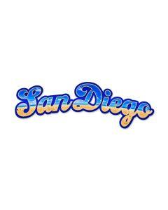 San Diego, Other, Custom Metal Shape, 22 X 7 Inches