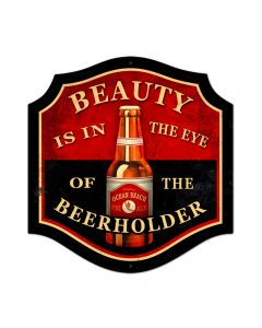 Beauty Beer Holder, Food and Drink, Custom Metal Shape, 20 X 20 Inches