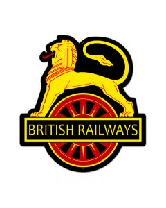British Railways, Train and Rail, Custom Metal Shape, 18 X 21 Inches