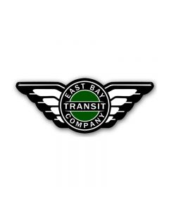 East Bay Transit, Other, Custom Metal Shape, 25 X 10 Inches