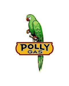 Polly Gas, Automotive, Custom Metal Shape, 21 X 31 Inches