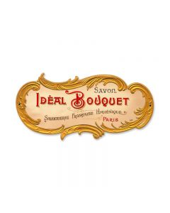 Ideal Bouquet, Home and Garden, Custom Metal Shape, 14 X 7 Inches