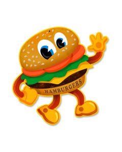 Hamburger, Food and Drink, Custom Metal Shape, 12 X 12 Inches