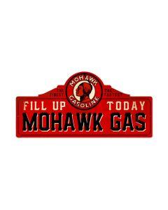 Mohawk Station, Automotive, Custom Metal Shape, 26 X 12 Inches