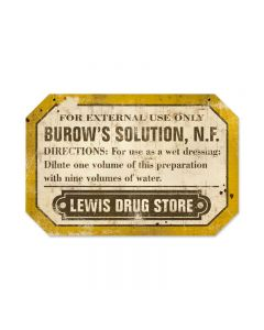 Lewis Drug, Home and Garden, Custom Metal Shape, 18 X 12 Inches