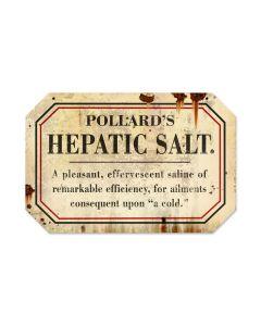 Hepathic Salt, Home and Garden, Custom Metal Shape, 18 X 12 Inches