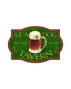 Sea Dog Tavern, Bar and Alcohol, Custom Metal Shape, 24 X 16 Inches