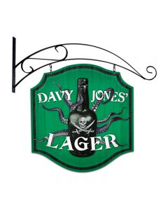 Davy Jones Lager, Bar and Alcohol, Double Sided Custom Metal Shape with Wall Mount, 20 X 20 Inches