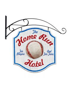 Home Run Hotel, Bar and Alcohol, Double Sided Custom Metal Shape with Wall Mount, 20 X 20 Inches