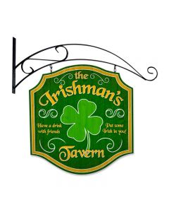 Irishmans Tavern, Bar and Alcohol, Double Sided Custom Metal Shape with Wall Mount, 20 X 20 Inches