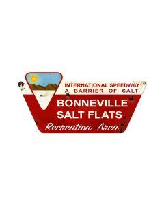 Bonneville Speedway, Automotive, Custom Metal Shape, 27 X 13 Inches