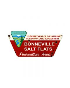 Bonneville Salt Flats, Automotive, Custom Metal Shape, 27 X 13 Inches