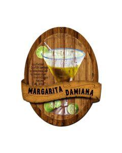 Margarita Damiana Recipe, Bar and Alcohol, Custom Metal Shape, 20 X 24 Inches