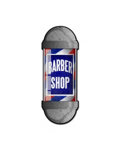 Barber Shop, Nostalgic, Custom Metal Shape, 9 X 24 Inches
