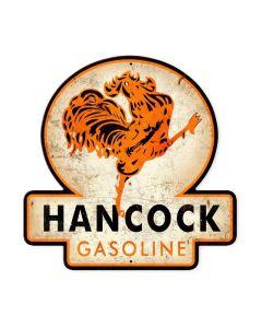 Hancock Old School Gasoline, Automotive, Custom Metal Shape, 16 X 16 Inches