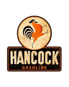 Hancock Old School Gasoline, Humor, Custom Metal Shape, 16 X 16 Inches