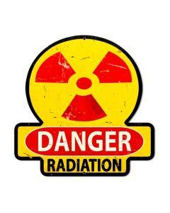 Danger Radiation, Humor, Custom Metal Shape, 16 X 16 Inches