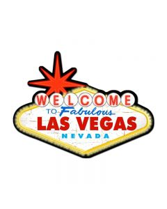 Welcome To Las Vegas, Travel, Custom Metal Shape, 28 X 21 Inches
