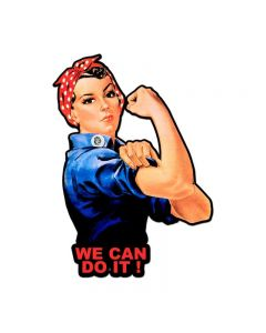 Rosie The Riveter We Can Do It, Pinup Girls, Custom Metal Shape, 23 X 16 Inches