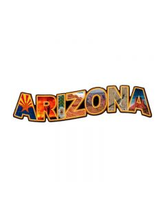 Arizona Landmarks, Travel, Custom Metal Shape, 28 X 8 Inches