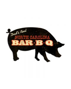 North Carolina BBQ, Home and Garden, Custom Metal Shape, 26 X 15 Inches