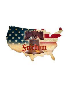 Freedom Working USA, Patriotic, Custom Metal Shape, 25 X 16 Inches