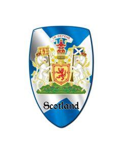 Scotland Shield, Travel, Custom Metal Shape, 15 X 24 Inches