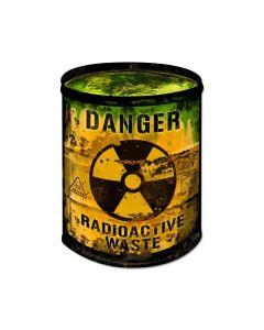 Radioactive Barrel, Home and Garden, Custom Metal Shape, 14 X 20 Inches
