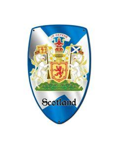 Scotland Shield, Travel, Custom Metal Shape, 7 X 10 Inches