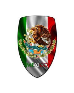 Mexico Shield, Travel, Custom Metal Shape, 21 X 32 Inches