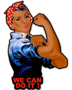 Black Rosie We Can Do It, Allied Military, Metal Signs, 23 X 16 Inches