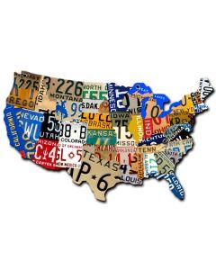 USA MAP, Automotive, PLASMA, 10 X 6 Inches