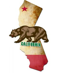 3-D California Bear , 3D Metal Art, PLASMA 3D , 32 X 18 Inches