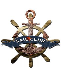 3-D SAIL CLUB , 3D Metal Art, PLASMA, 24 X 24 Inches