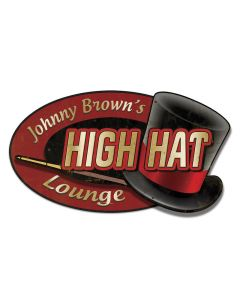 High Hat Lounge, 3D Metal Art, 3-D Plasma, 22 X 14 Inches