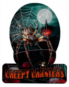 Creepy Crawlers, Halloween, HELMET METAL SIGN , 12 X 15 Inches