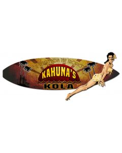 3-D Kahuna Kola Surf Board, New Products, Plasma, 23 X 20 Inches