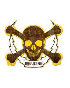Skull Bolt High Voltage Plasma, Man Cave, Plasma, 91 X 16 Inches
