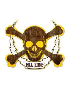 Skull Bolt Kill Zone, Man Cave, Plasma, 19 X 16 Inches